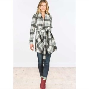 Matilda Jane Check It Twice Plaid coat - S